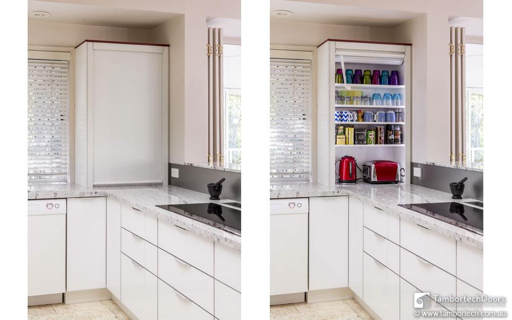 Kitchen Appliance Cupboard With Roller Door